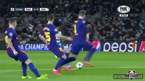 FC Barcelona vs Sporting 2&0 club UEFA champions league 6 ...