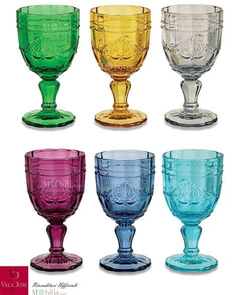 bicchieri a calice colorati bicchieri colorati syrah villa d este