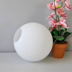 Lampenschirm Glas Weiß : glas lampenschirm glaskugel 25cm opal wei ~ Lateststills.com Haus und Dekorationen