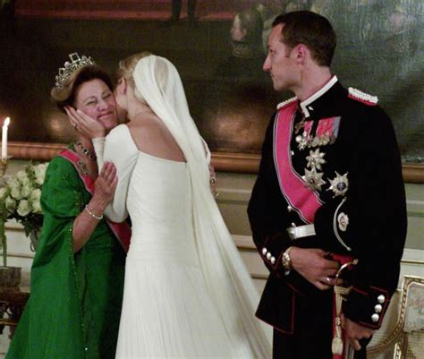 Check spelling or type a new query. Crown Princess Mette-Marit hugs her mother-in-law; wedding of Crown Prince Haakon of Norway and ...