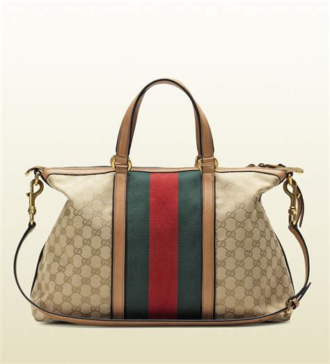 lyst gucci rania original gg canvas top handle bag