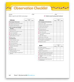 early childhood observation quotes quotesgram 794 | observation checklist 130207