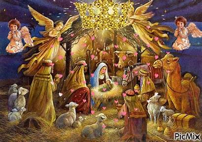 Gifs Jesus Nativity Navidad Imagenes Pesebres Papa