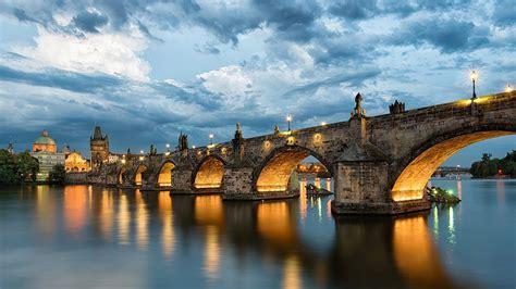 Wallpaper Prague Charles Bridge Czech Republic River