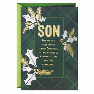 So Very Loved Christmas Card For Son Greeting Cards