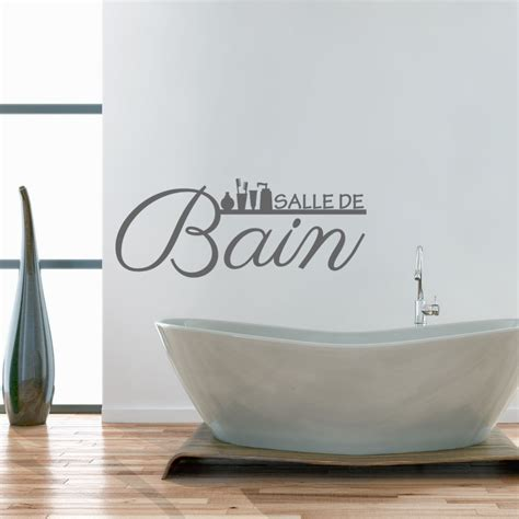 sticker citation salle de bain stickers stickers