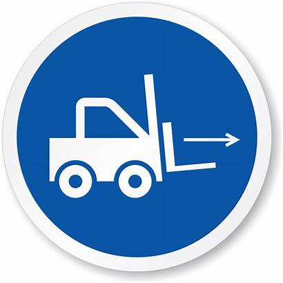 Iso Safety Forklift Symbol Action Sign Mandatory
