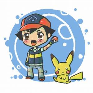 Chibi Ash and Pikachu by oober-zombie on DeviantArt