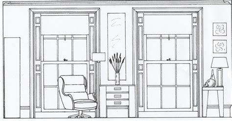 Living Room Window Dimensions by 2d Elevation Drawing Of A Living Room Style Within