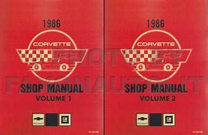 1986 Corvette Repair Shop Manual Reprint 2 Volume Set