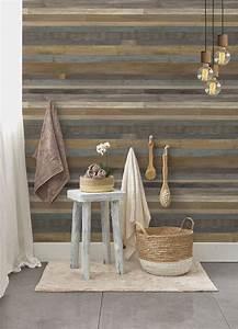 lambris pvc revetement ambiance bois grosfillex With porte d entrée pvc avec revetement mural vinyle salle de bain