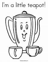 Teapot Coloring Tea Twistynoodle Happy Birthday Clipart Teapots Template Clip Twisty 2nd Sheets Noodle Tiger Library Popular Girly Preschool Crafts sketch template