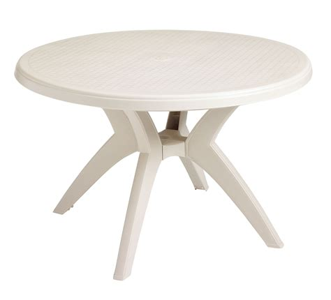 resin outdoor dining table grosfillex ibiza 46 in round resin patio dining table