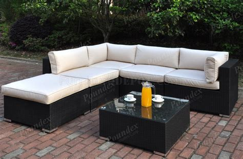 424 outdoor patio 6pc sectional sofa set by poundex w options