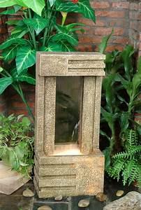 Fontaine Mur D Eau Exterieur : fontaine d 39 ext rieur mur d 39 eau effet pierre de gr s lumi re ~ Premium-room.com Idées de Décoration
