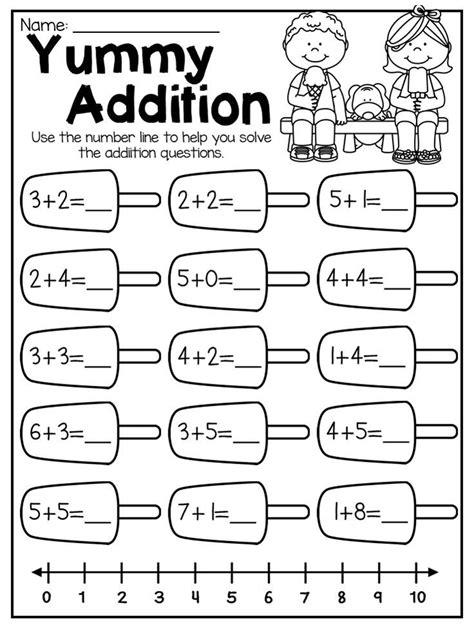 summer review kindergarten math  literacy worksheet