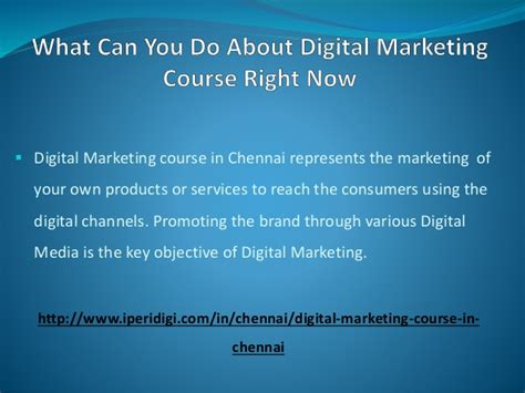 digital marketing course in chennai what can you do about digital marketing course right now