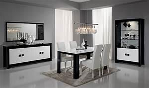 meuble tv pisa laquee bicolore noir blanc noir blanc With wonderful meuble cuisine blanc laque 15 meubles de salon rangements et bibliothaques