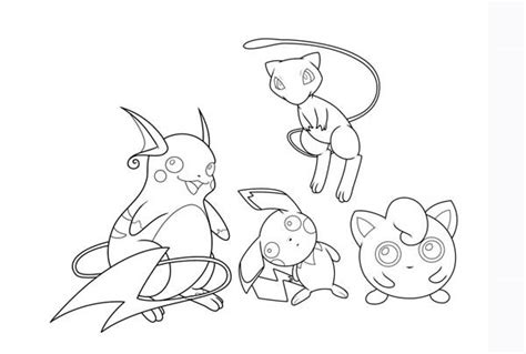 Jiggly Puff Kleurplaat by Mew And Jigglypuff And Pichu And Raichu Coloring Page