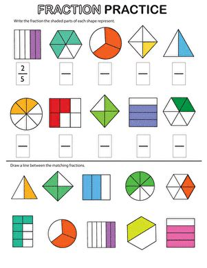New 595 Fraction Worksheets With Pictures  Fraction Worksheet