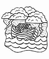 Coloring Bible Noah Ark Pages Flood Sheets Activity Clipart Crafts Story Clip Popular Noahs Library Coloringhome sketch template
