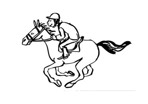 Paardrijden Kleurplaat by Kleurplaat Paardrijden Afb 10130