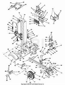 Mtd 24aa570h190 27 Ton Log Splitter  2000   Ls27t  2000