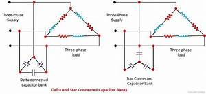 How To Connect A Capacitor Bank With A 3 Phase Line To
