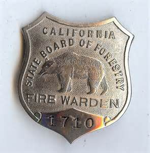 Forestry Fire Wardens Badge