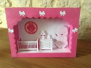 Cadre Chambre Fille : cadre chambre bebe filles et gar ons en kirigami ~ Nature-et-papiers.com Idées de Décoration
