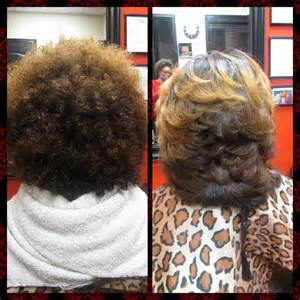 Natural Hair Blowout Before and After