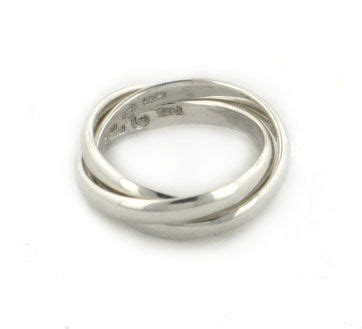 sterling silver 3 band russian wedding ring size 4 sizes 4