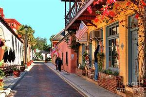 Aviles Street Located In Old Town, St Augustine, Fl