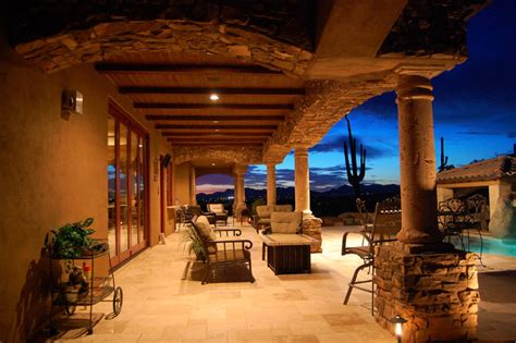 Tuscan Style Outdoor Living In Gold Canyon Traditional