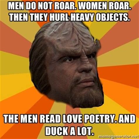 Worf Memes - klingon dating geekery and pop culture pinterest