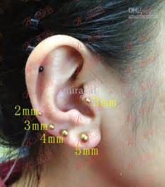 surgical stainless steel earrings ear spikes tongue piercing ring bar jewelry earring