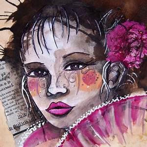 Peinture Visage Femme : illustration et peinture l 39 acrylique laure phelipon ~ Melissatoandfro.com Idées de Décoration