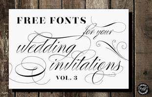 wedding font free fonts for diy wedding invitations volume 3