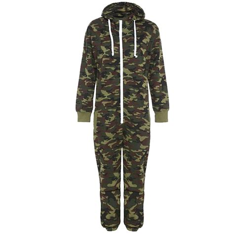 camouflage jumpsuit camouflage snake print unisex fleece mens womens hooded