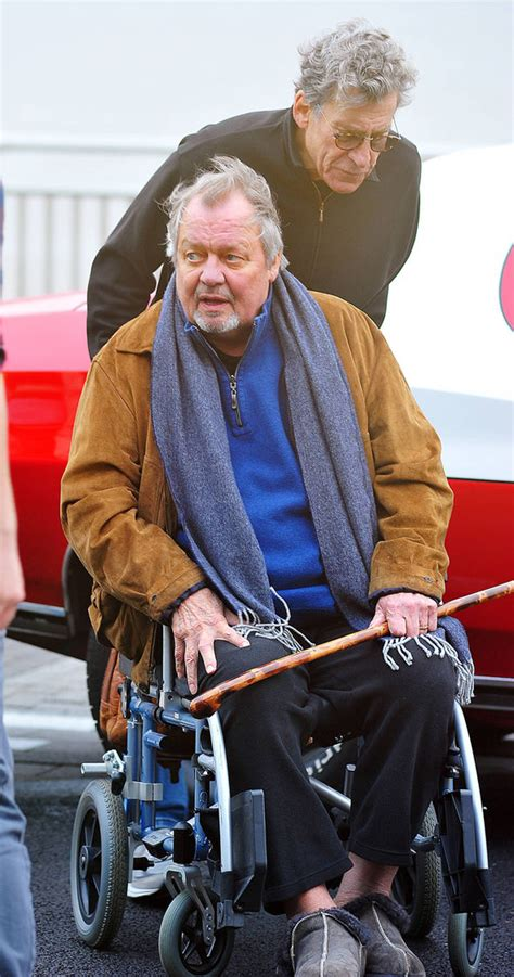 starsky hutchs paul michael glaser pushes wheelchair