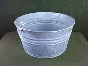 Vintage, Galvanized, No, 2, Wash, Tub