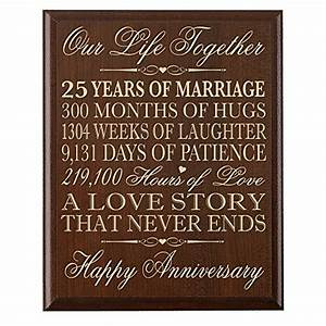 25th wedding anniversary wall plaque gifts for couple With 25th wedding anniversary gifts for him