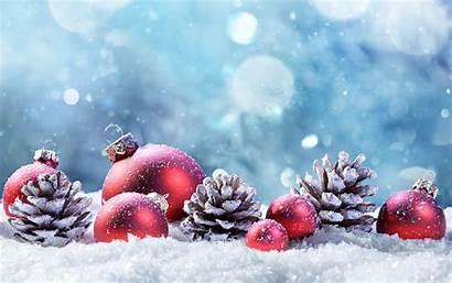 Snow Winter Balls Desktop Resolution 4k Merry