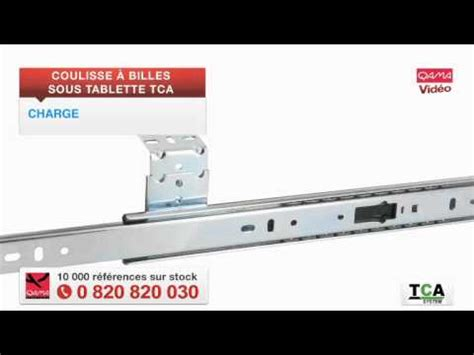 coulisse 224 billes sous tablette tca par qama