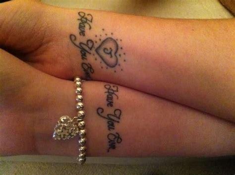 fantastic matching wrist tattoos design