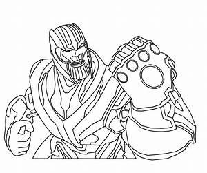 Ausmalbilder, Thanos