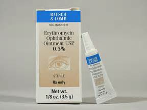 Erythromycin ophthalmic ointment - 3.5 gmRXZone.us Erythromycin Ophthalmic Ointment