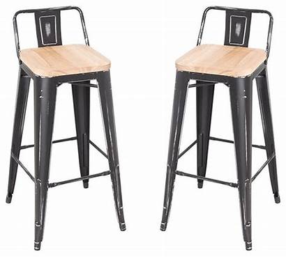 Stools Bar Counter Wood Contemporary Steel Stackable