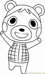 Crossing Animal Bluebear Coloring Pages Coloringpages101 sketch template