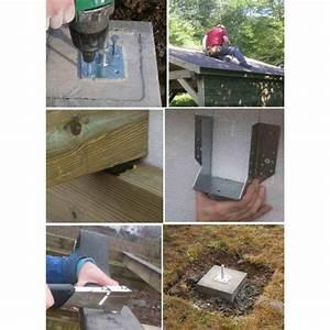 Ancrage Poteau Bois : ancre r glable de poteau de structure avec kit de fixation ~ Edinachiropracticcenter.com Idées de Décoration